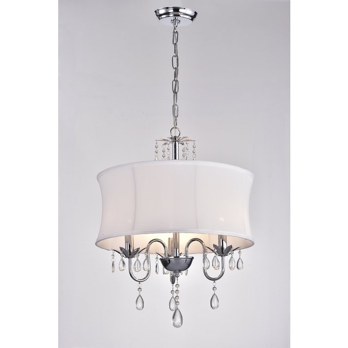 Most Current Buster 5 Light Drum Chandeliers Within Leandra 3 Light Drum Chandelier (Gallery 8 of 30)