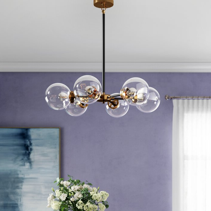 Most Current Claudio 6 Light Chandelier For Asher 12 Light Sputnik Chandeliers (View 17 of 30)