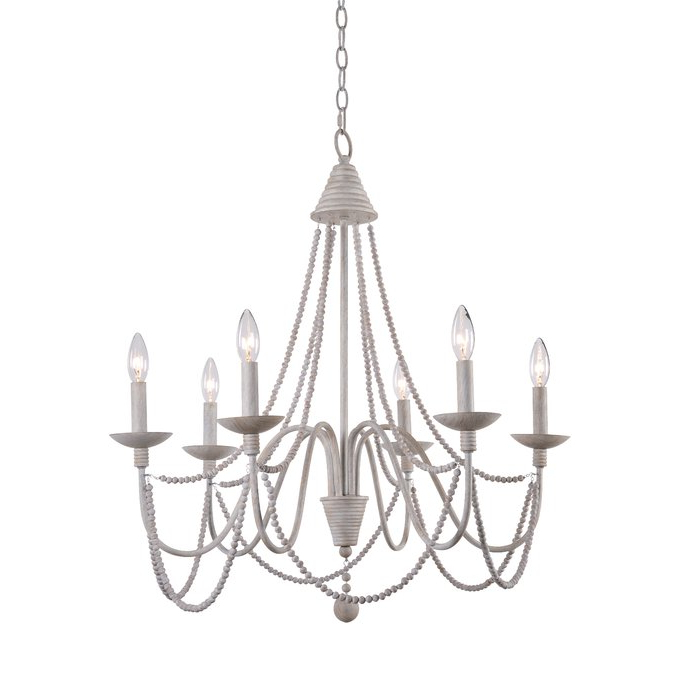 Most Current Clayburn 6 Light Candle Style Chandelier Intended For Bouchette Traditional 6 Light Candle Style Chandeliers (View 21 of 30)