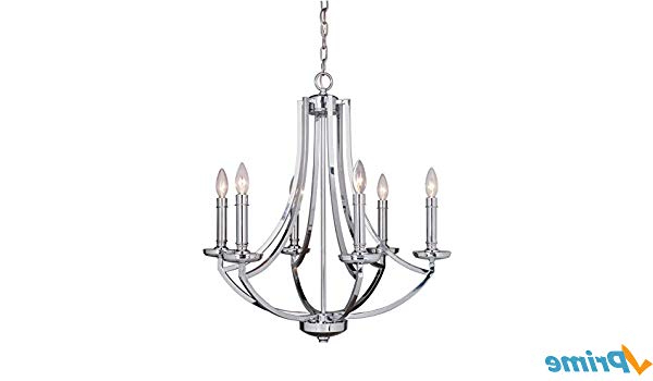 Most Current Craftmade 40026 Ch Six Light Chandelier – – Amazon Intended For Hayden 5 Light Shaded Chandeliers (View 25 of 30)