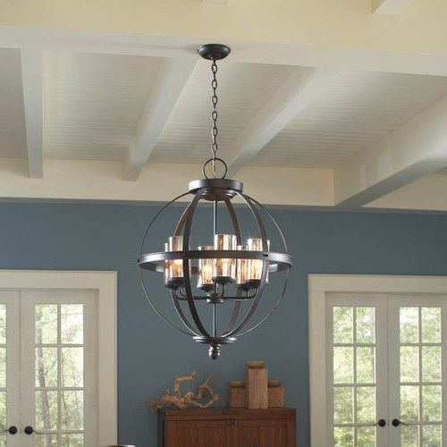 Most Current Donna 4 Light Globe Chandeliers Inside Donna 4 Light Globe Chandelier (View 19 of 30)