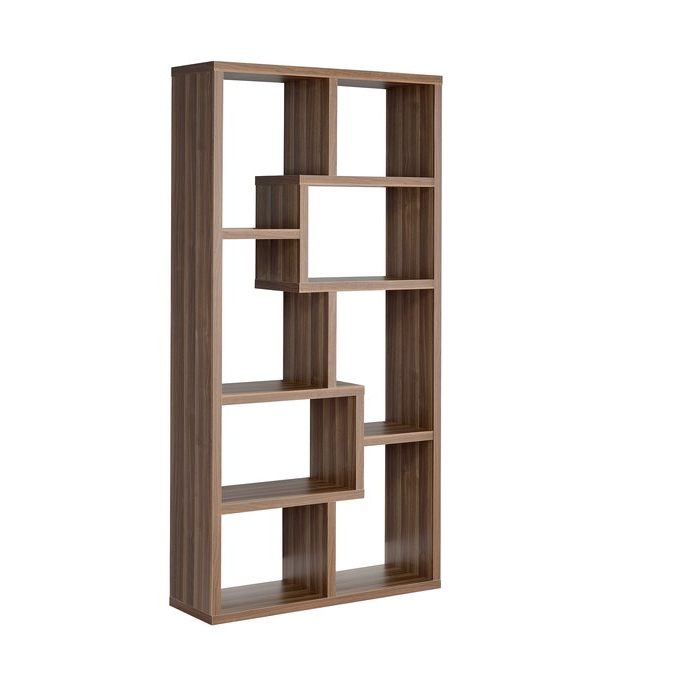 Most Current Flavius Geometric Bookcase Pertaining To Ansley Geometric Bookcases (View 11 of 20)