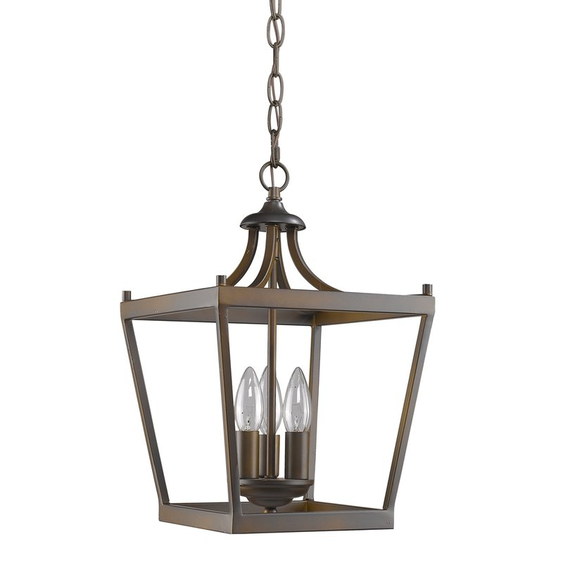 Most Current Gabriella 3 Light Lantern Chandeliers Pertaining To Rancourt 3 Light Lantern Pendant (View 26 of 30)