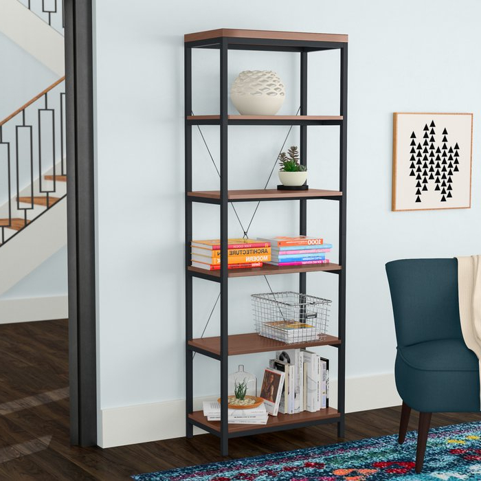 Most Current Glenfield Etagere Bookcase Inside Rocklin Etagere Bookcases (View 10 of 20)