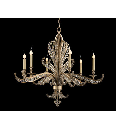 Most Current John Richard Ajc 8823 Beaded 6 Light 34 Inch Antique Silver Chandelier  Ceiling Light In Joon 6 Light Globe Chandeliers (View 17 of 30)