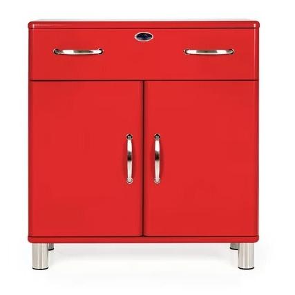 Most Current Malibu 2 Door 1 Drawer Sideboards With Malibu 2 Door 1 Drawer Sideboard  Red (View 15 of 20)