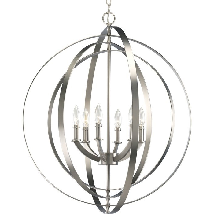 Most Current Morganti 6 Light Globe Chandelier Throughout Morganti 4 Light Chandeliers (View 4 of 30)