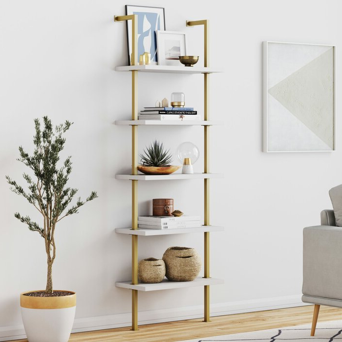 Most Current Moskowitz Ladder Bookcase For Moskowitz Ladder Bookcases (View 4 of 20)