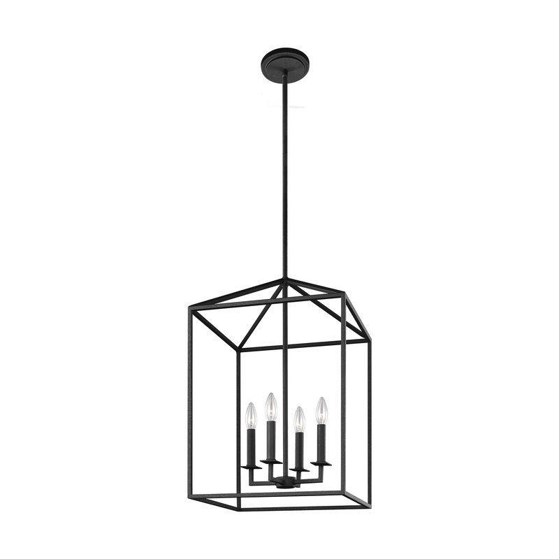 Most Current Odie 4 Light Lantern Square Pendants Inside Odie 4 Light Lantern Geometric Pendant (Gallery 1 of 30)
