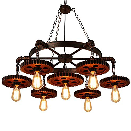 Most Current Shayla 12 Light Wagon Wheel Chandeliers Within Wagon Wheel Chandelier: Amazon (View 30 of 30)