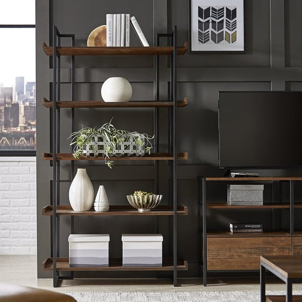 Most Current Shop Corey Rustic Brown Etagere Bookcasesinspire Q With Regard To Etagere Bookcases (View 7 of 20)