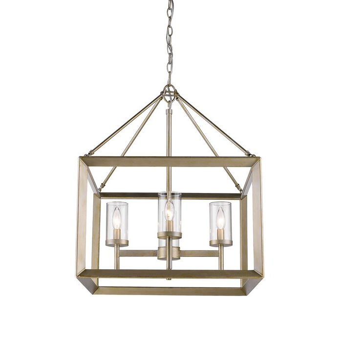 Most Current Thorne 4 Light Lantern Rectangle Pendant Within Thorne 6 Light Lantern Square / Rectangle Pendants (View 12 of 30)