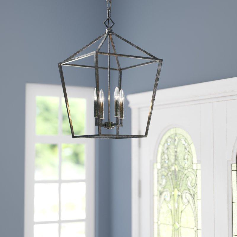 Most Current Varnum 4 Light Lantern Pendant Pertaining To Finnick 4 Light Foyer Pendants (Gallery 15 of 30)