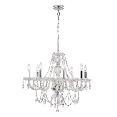 Most Current Verdell 5 Light Crystal Chandeliers Regarding Crystal – Chandeliers – Lighting – The Home Depot (Gallery 30 of 30)