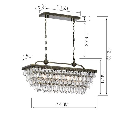 Most Current Whitten 4 Light Crystal Chandeliers Regarding Pinterest (Gallery 4 of 30)