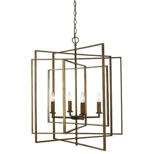 Most Current Yarnell 4 Light Square/rectangle Chandelier (View 30 of 30)