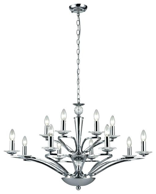 Most Popular 12 Light Chandelier – Dimensidigital Intended For Vroman 12 Light Sputnik Chandeliers (View 24 of 30)