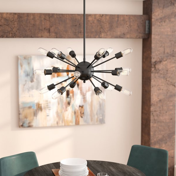 Most Popular 18 Light Sputnik Chandelier (View 29 of 30)