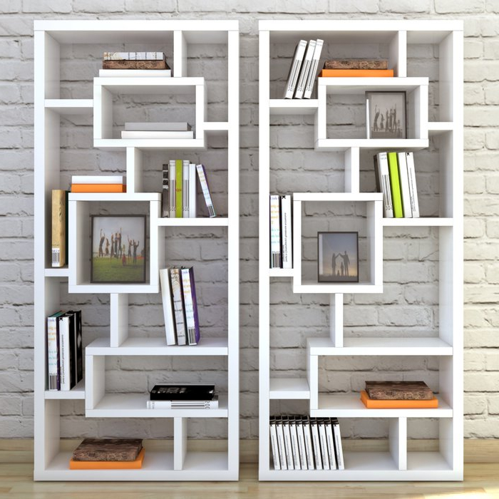 Most Popular Bostic Geometric Bookcases For Cleisthenes Geometric Bookcase (View 12 of 20)