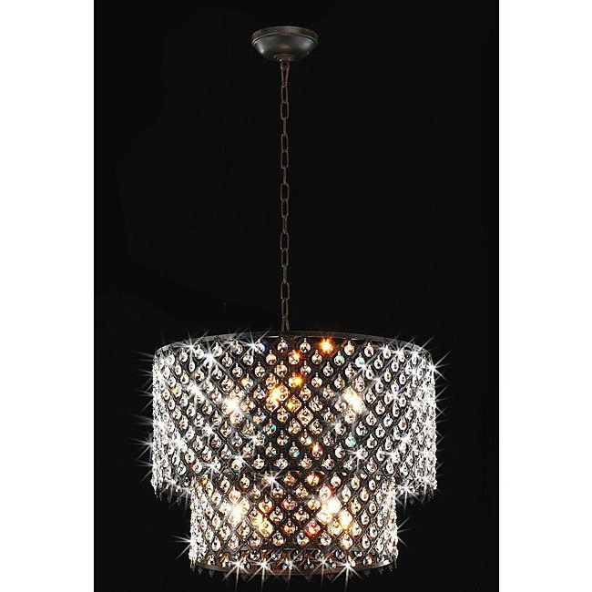Most Popular Bpd 45Kb) Antique Bronze 8 Light Double Round Crystal Throughout Mckamey 4 Light Crystal Chandeliers (View 21 of 30)