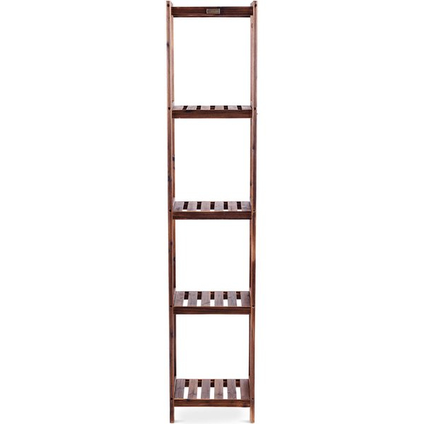 "Most Popular Brock Ladder Bookcases In Jesse 65"" H X 10"" W Shelf Multifunctional Utility Storage (Gallery 15 of 20)"