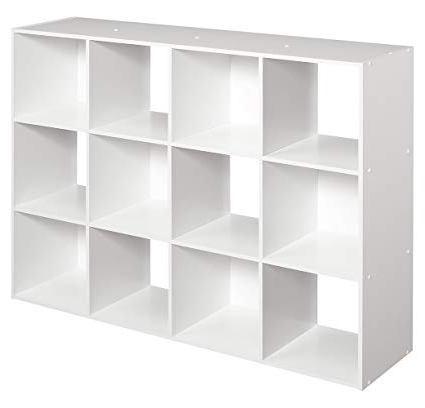 Most Popular Cubicals Cube Bookcases In Closetmaid 1290 Cubeicals Organizer, 12 Cube, White (Gallery 3 of 20)