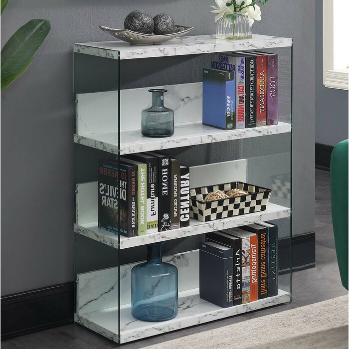 Most Popular Daria Standard Bookcases Inside Calorafield 4 Tier Standard Bookcase (View 16 of 20)
