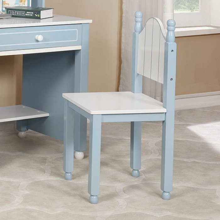 Most Popular Deana Credenzas Throughout Deana Blue/white Kids Desk And Chair (View 17 of 20)