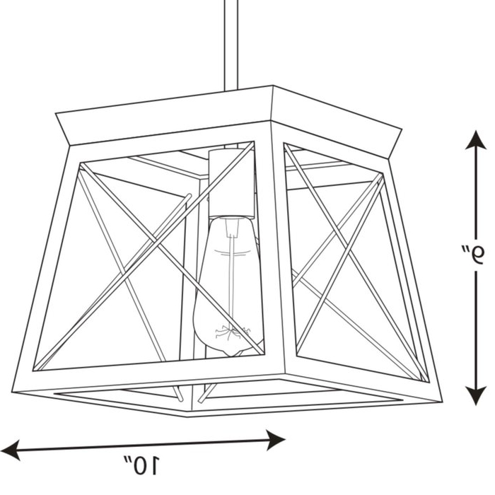Most Popular Delon 1 Light Lantern Geometric Pendant Within Delon 1 Light Lantern Geometric Pendants (View 18 of 30)