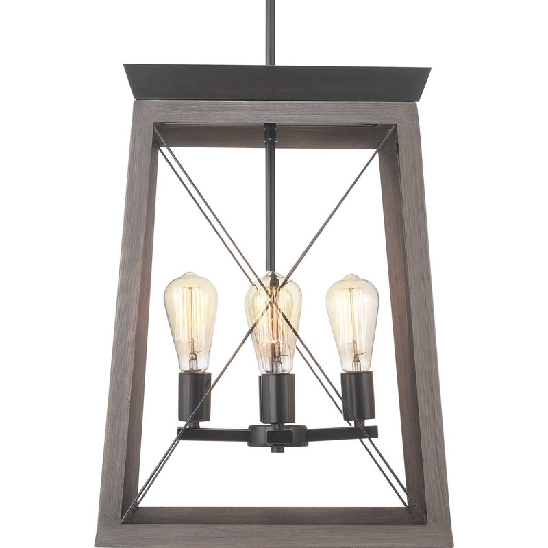 Most Popular Delon 4 Light Square Chandeliers In Delon 4 Light Lantern Geometric Pendant (Gallery 13 of 30)