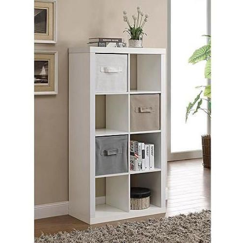 Most Popular Details About New Brown 8 Cube Storage Organizer Home Office Regarding Karlie Cube Unit Bookcases (View 13 of 20)