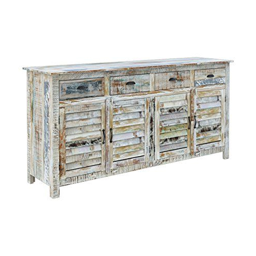 Most Popular Drummond 4 Drawer Sideboards Intended For Rustic Solid Reclaimed Wooden Modern Antique Handmade (View 18 of 20)