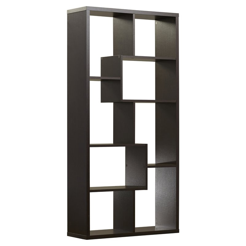 Most Popular Ervin Geometric Bookcase Intended For Ervin Geometric Bookcases (View 13 of 20)