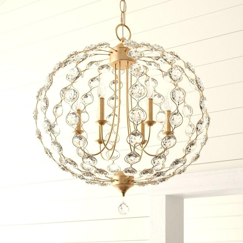 Most Popular Globe Light Chandelier – Urbanhunts (View 29 of 30)