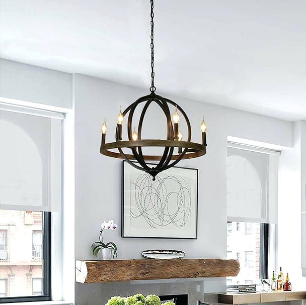 Most Popular Gregoire 6 Light Globe Chandeliers Within 6 Light Globe Chandelier – Luwalcott (View 24 of 30)