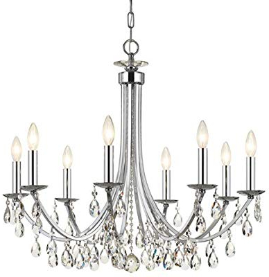 Most Popular Iron 8 Light Black Chandelier – – Amazon Regarding Shaylee 8 Light Candle Style Chandeliers (Gallery 21 of 30)
