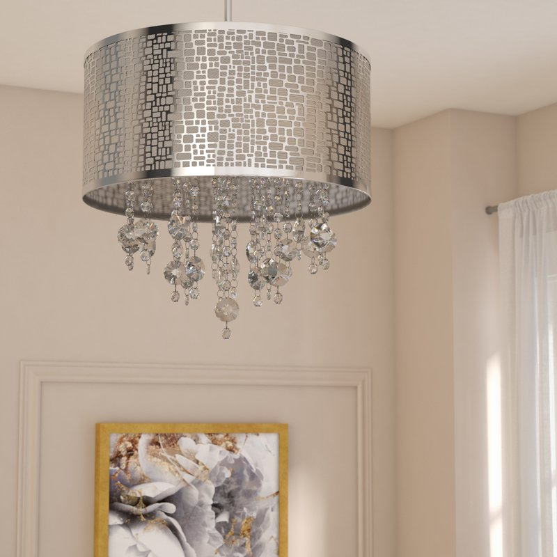 Most Popular Jill 4 Light Drum Chandeliers Intended For Jill 4 Light Drum Chandelier (View 2 of 30)