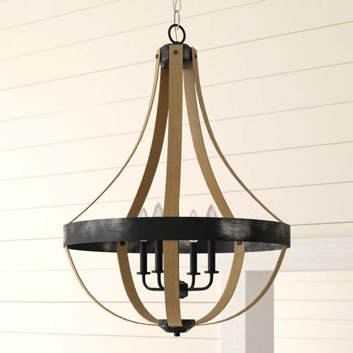Most Popular Kadence 4 Light Lantern Chandelier (View 19 of 30)