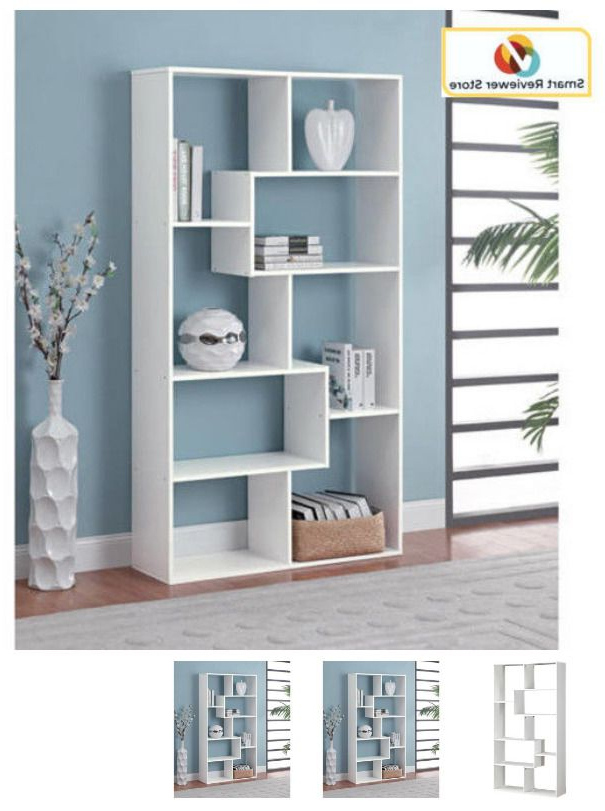 Most Popular Karlie Cube Unit Bookcases Within 8 Shelf Tall Bookcase Cubby Large Open Bookshelf Modern Cube (Gallery 11 of 20)