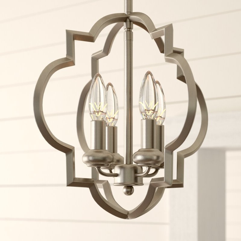 Most Popular Kaycee 4 Light Geometric Chandeliers Pertaining To Hartley 4 Light Geometric Chandelier (View 20 of 30)
