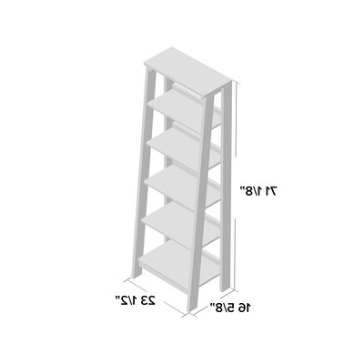 Most Popular Massena Ladder Bookcases Regarding Massena Ladder Bookcase (View 8 of 20)