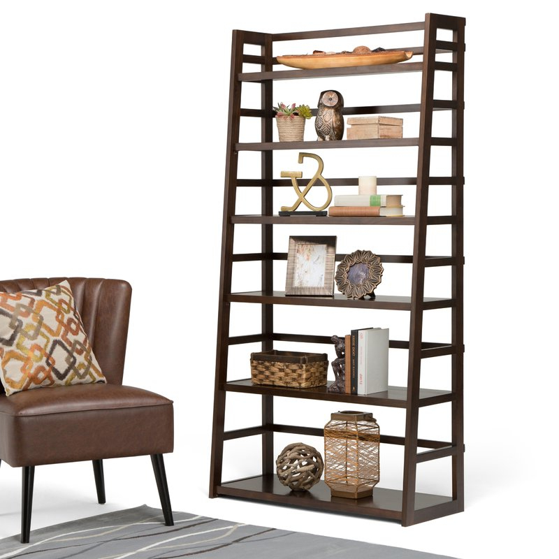 Most Popular Mayna Ladder Bookcase For Mayna Ladder Bookcases (Gallery 8 of 20)