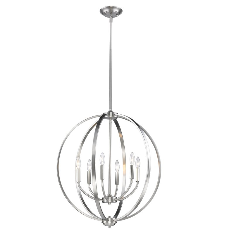 Most Popular Morganti 4 Light Chandeliers Inside Earlene 6 Light Globe Chandelier (Gallery 24 of 30)