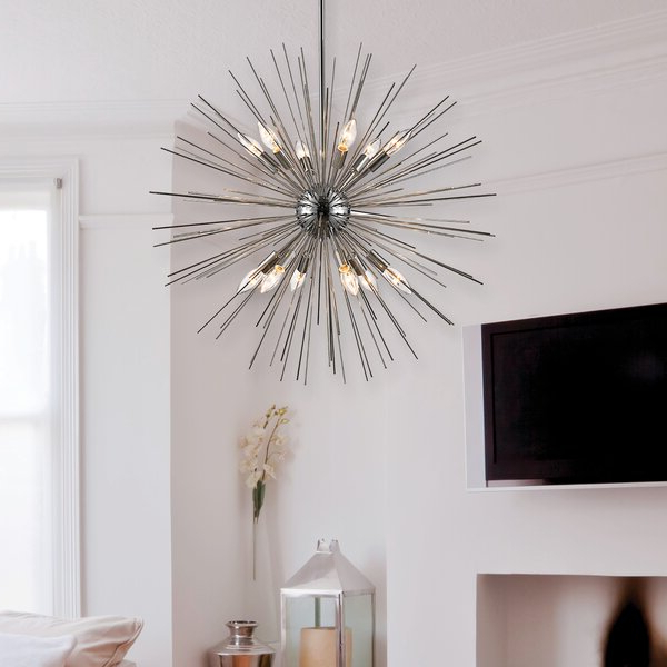 Most Popular Nelly 12 Light Sputnik Chandeliers Regarding Antonie 12 Light Sputnik Chandelier (View 12 of 30)