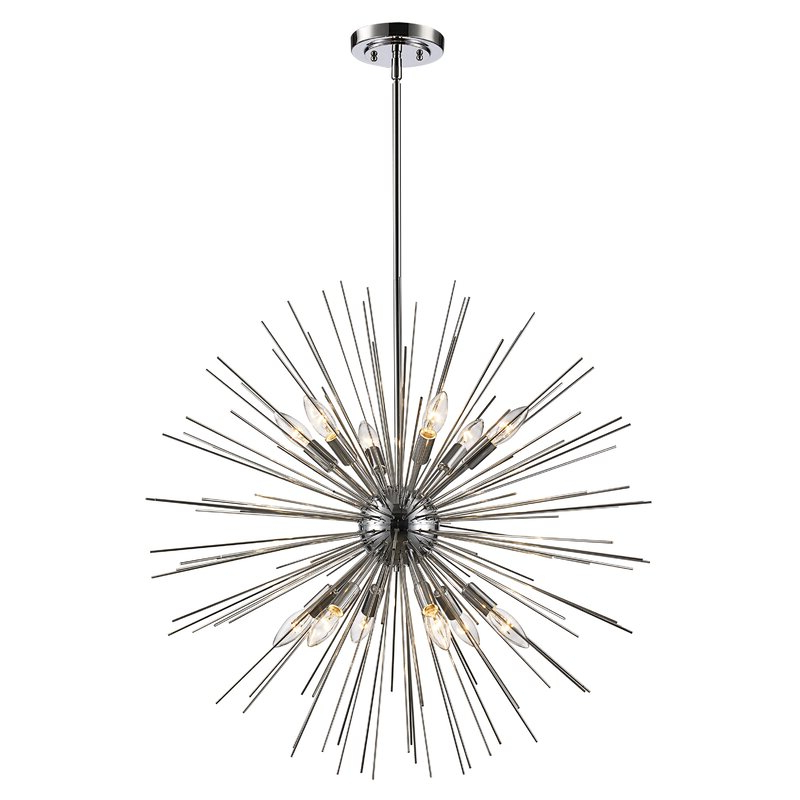 Most Popular Nelly 12 Light Sputnik Chandeliers Throughout Antonie 12 Light Sputnik Chandelier (View 13 of 30)
