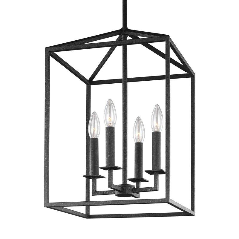 Most Popular Odie 4 Light Lantern Square Pendant For Odie 4 Light Lantern Square Pendants (Gallery 4 of 30)