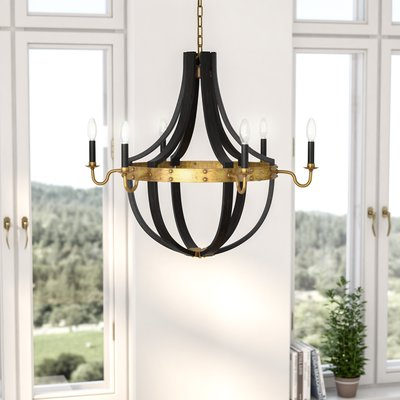 Most Popular Phifer 6 Light Empire Chandeliers Regarding Karteek 6 Light Led Empire Chandelier (View 15 of 30)