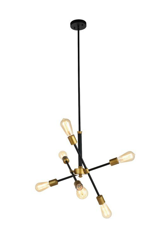 Most Popular Sputnik 6 Light Pendant In Eladia 6 Light Sputnik Chandeliers (View 18 of 30)