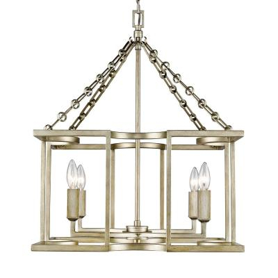 Most Popular Suki 5 Light Shaded Chandeliers Throughout Safavieh Craftsman 4 Light Antique Gold Chandelier Lit4184A (View 29 of 30)