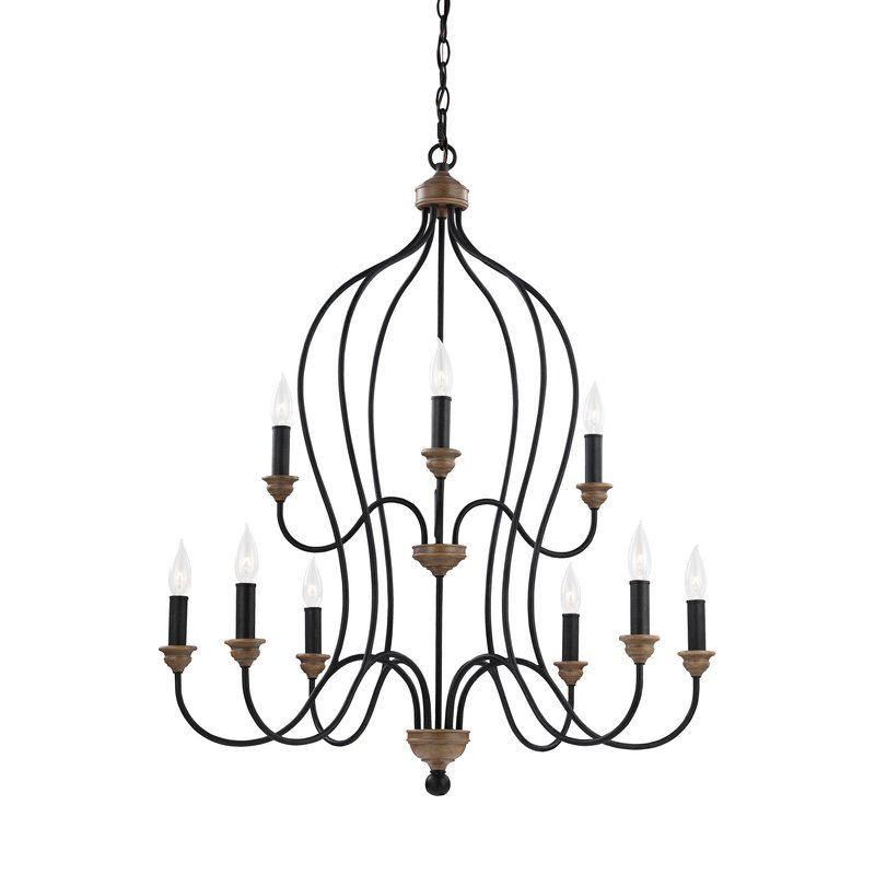 Most Popular Sundberg 9 Light Candle Style Chandelier Inside Gaines 9 Light Candle Style Chandeliers (View 6 of 30)